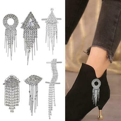 Diamante Crystal Tassel Wedding High Heel Shoe Clips Charms Decoration Craft