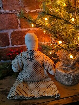 PRIMITIVE DOLL ORNAMENT CHRISTMAS FARMHOUSE COUNTRY Newly Made