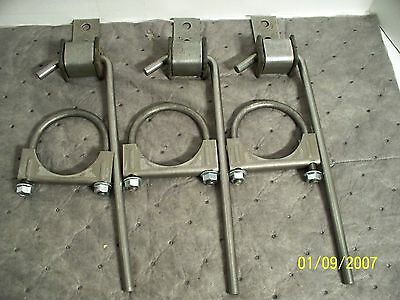 "Universal Exhaust Weld-On Hangers+2.50"" Clamps-6 Pcs"