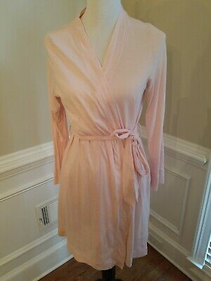 Bump In The Night Nursing Gown Robe Maternity Pockets Pink Large Hospital Gown