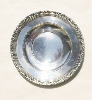 """Heavy Solid Reed & Barton Medici X478 Sterling Silver Sandwich Plate 9 1/2"""" 180g"""