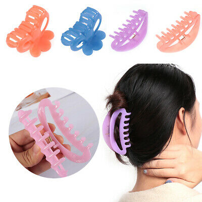 Accessories Crab  Clip Large Hairpin  Plastic Hair Clamp Banana Grips Hair Claw