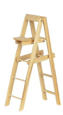 2pcs 1//12 Scale Dollhouse Miniature Natural Wooden Straight Ladder