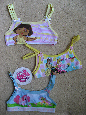 Princess Pony Dora Licenced Girls 3 Bralette underwear size 3 New