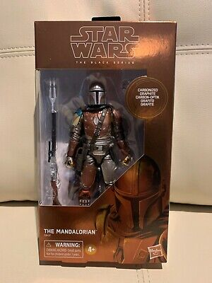 "HASBRO STAR WARS BLACK SERIES 6"" inch CARBONIZED THE MANDALORIAN ACTION FIGURE"