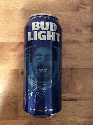 Post Malone Rare 2019 Limited Edition Bud Light Can 100% Authentic
