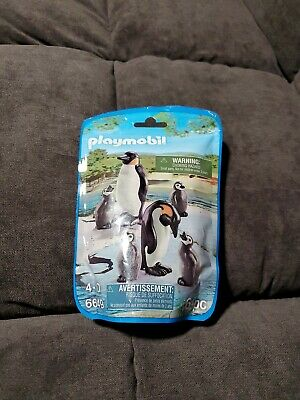 Playmobil Zoo Animals Penguin Family Pack 6 Pieces 6649 New