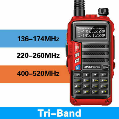 BaoFeng UV-S9 Tri-Band 8W 2x Antenna Long Range Walkie Talkie Two Way Radio Red