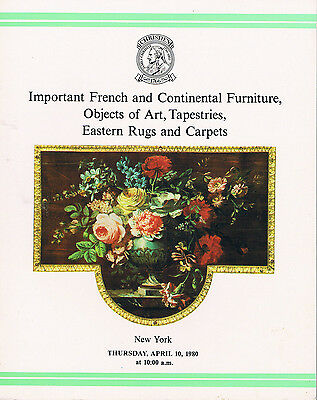 Christie's French & Continental Furniture, Objects of Art, Tapestries, Rugs