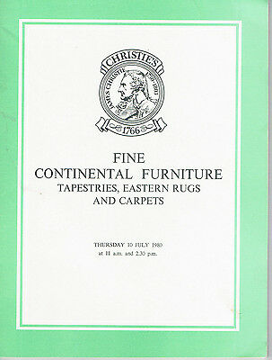 Christie's - Fine Continental Furniture, Tapestries, Eastern Rugs and Carpets