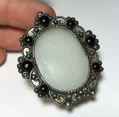 Antique Sterling Silver 925 Ornate Micro Miniature Oval Picture Frame