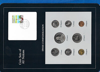 Coin Sets of All Nations Switzerland 1984-1987 UNC 5 Francs 1987 12.10.87