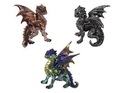 3 x Dragon Statue in Defence Pose ~ Game of Thrones Dragons SET
