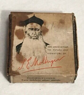 Antique Doctor Mollinger's Prescription For Indigestion Apothecary Pharmacy Box