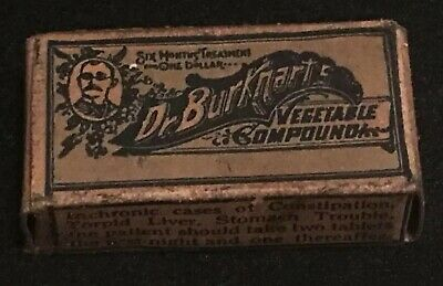 Antique Dr. Burkhart's Vegetable Compound Apothecary Pharmacy Dr. W. S. Burkhart