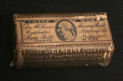 Antique Dr. C. McLane's Celebrated Liver Pills Fleming Bros. Rare Quack Medicine