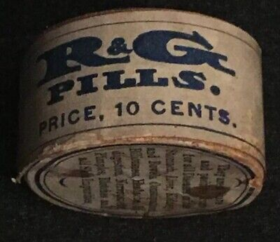 Antique R&G Pills Quack Medicine Apothecary Pharmacy Unopened EXTREMELY RARE