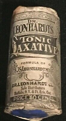 Antique Dr. Leonhardt's Tonic Laxative Apothecary Pharmacy Buffalo New York Rare