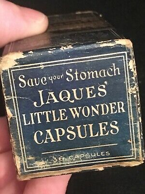 Antique Jaque's Little Wonder Tablets With Box & Contents Rare Quack Medicine