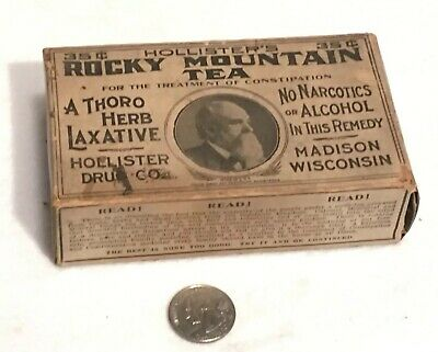 Antique Hollister's Rocky Mountain Tea Apothecary Pharmacy Box Hollister Drug Co