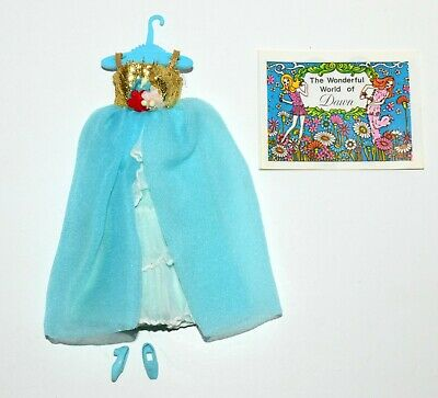 Fits Vintage Topper Dawn Pippa Rock Flower Clone Doll Blue Pouf Fashion! Lot 40