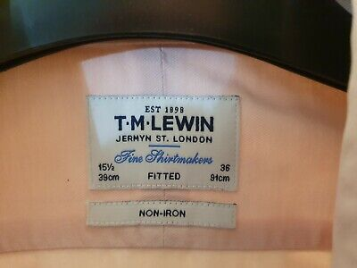 "T.M.LEWIN J.FRANCOMB SHIRT size 15.5""   FULLY FITTED"