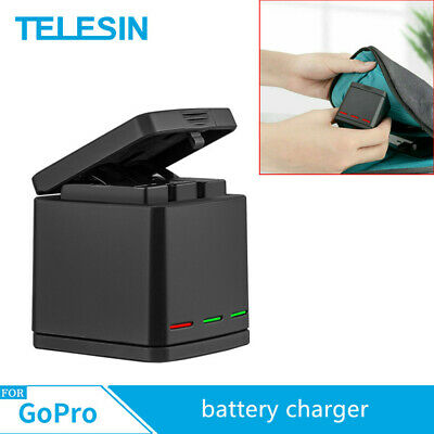 TELESIN For Gopro Hero 8 7 6 5 3 slots travel charging box Battery charger