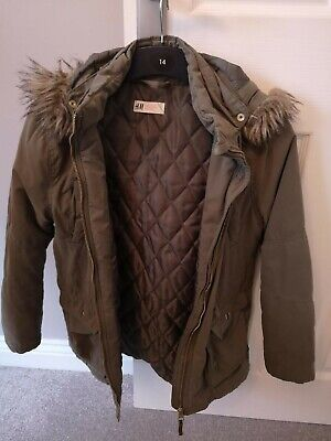 Kids Khaki Parker Coat from H&M, Size 10-11 years