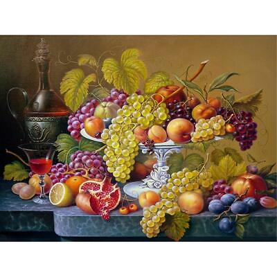 5D DIY Full Drill Diamond Painting Fruit Plate Cross Stitch Embroidery Kit BF#