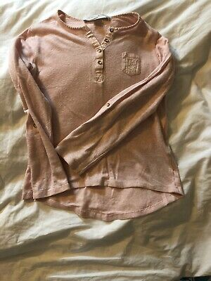 Massimo Dutti Girl Linen Top 5-6 Years