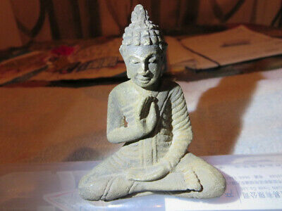Antique Buddha Khmer statue post- Angkor about four centuries old