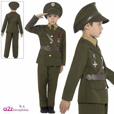 Childrens Ceremonial Soldier Fancy Dress Costume Military Army Outfit 3-13 Yrs