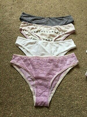 M & S Marks & Spencer Ladies Bikini Briefs/Pants/Knickers Size 10 X 4 Pairs New