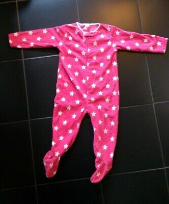 Girl's Next Soft Fleece 1onsie, Pink with stars, 2-3 years, excellent condition