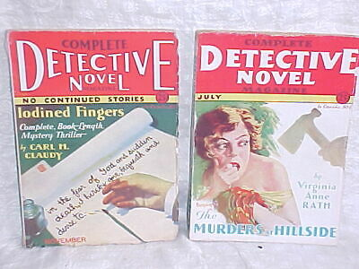 2 Complete Detective Novel Magazines. 1930 - 1931