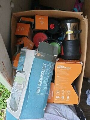 JOB LOT WHOLESALE MIXED PALLET - x1 box of lanterns torches electricals camping