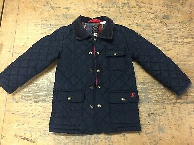 Boys / Girls Joules Quilted Navy BlueJacket Age 3 Years Country Shooting Jacket