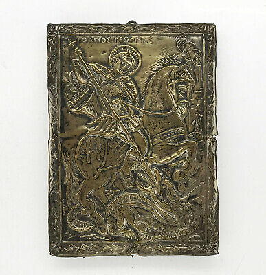 ANTIQUE RUSSIAN ICON of ST.GEORGE