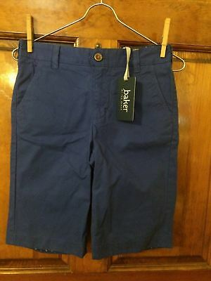 NWT Girls Baker by Ted Baker Ultramarine Blue Adjustable Waist Shorts Size 12