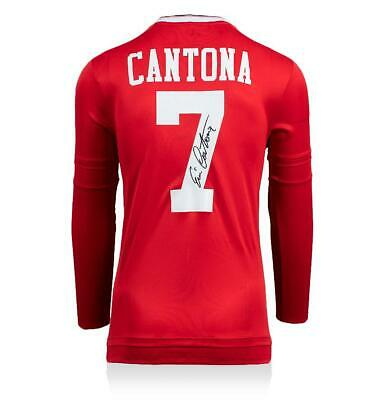 Eric Cantona Back Signed Manchester United Home Shirt Autograph Jersey