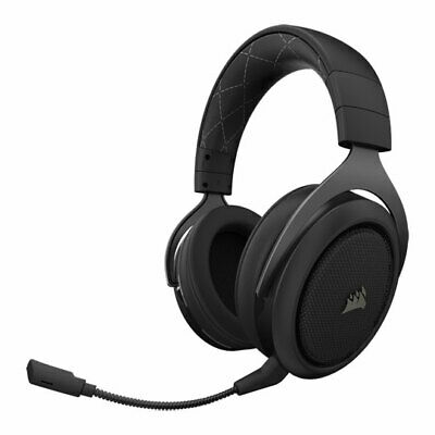 Corsair Gaming HS70 Wireless Headset with 7.1 Surround Sound, Carbon, 50mm Drive