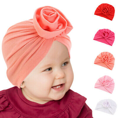 Newborn Baby Kids Indian Flower Turban Hat Sretch Beanie Head Wrap Cover Cap Hat