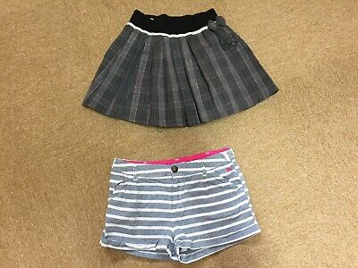 Lined Skirt Age 12 And H & M Shorts Age 12-13 Years