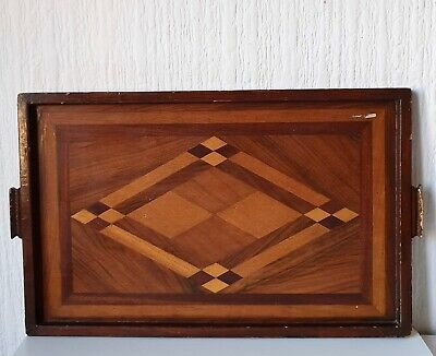 Vintage Mid 20Th Century Wooden Serving Tray