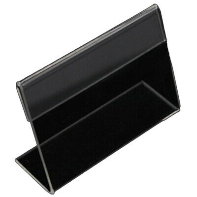 1X(20 Acrylic Business Card Holder L-Shaped Transparent Acrylic Table Price L2J1