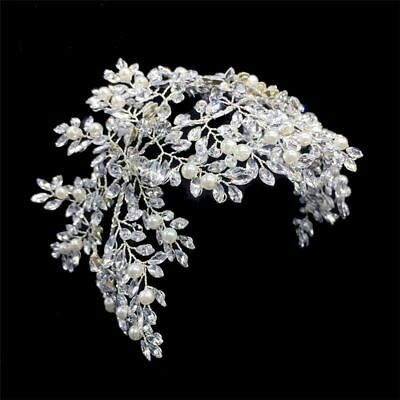 Silver Floral Wedding Headbands Handmade Classic Pearls Bridal Hair Accessories