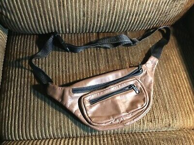 Leather Fanny Pack brown Waist
