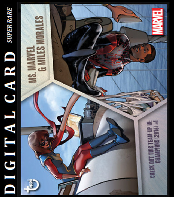 Topps Marvel Collect Card Trader Team Ups Ms. Marvel & Miles Morales