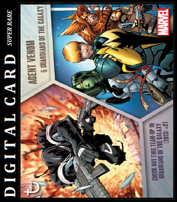 Topps Marvel Collect Card Trader Team Ups Agent Venom & Guardians