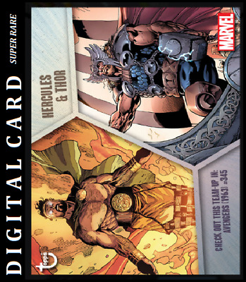 Topps Marvel Collect Card Trader Team Ups Hercules & Thor